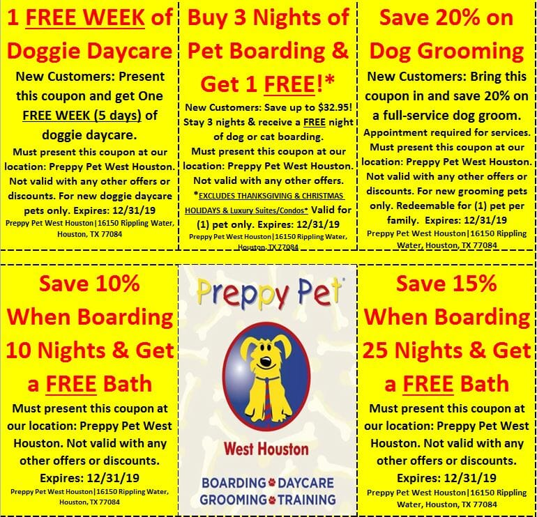 Preppy Pet West Houston Special Coupon Offers