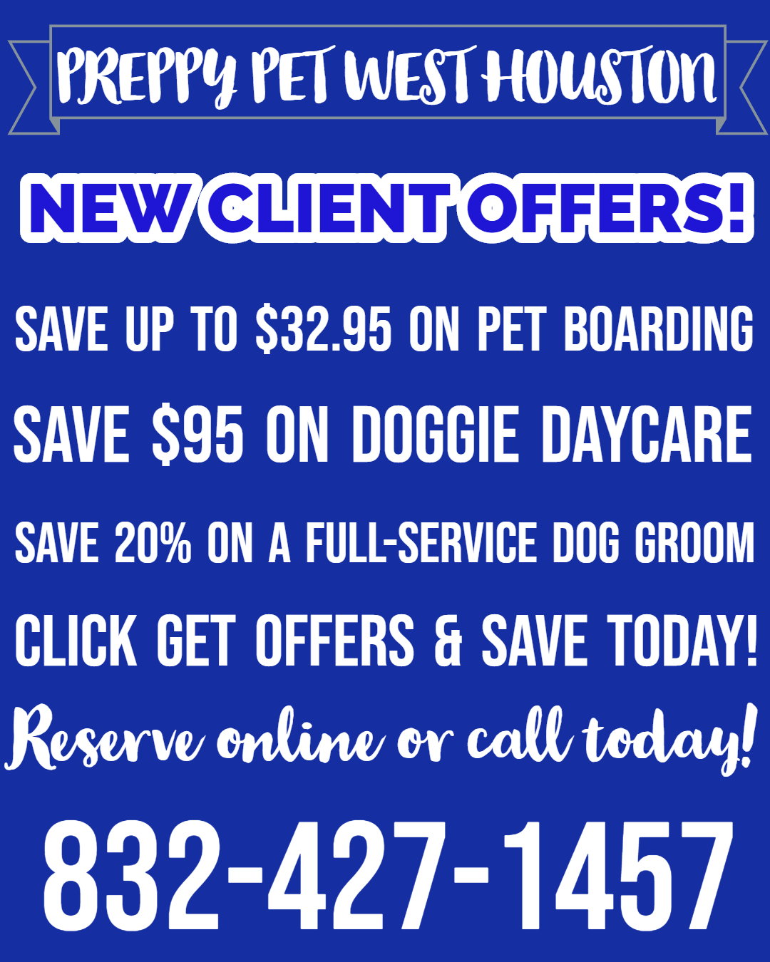 Preppy Pet West Houston | New Client Offers