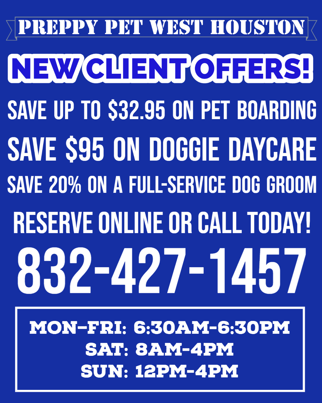 Preppy Pet West Houston | Promotional Offers