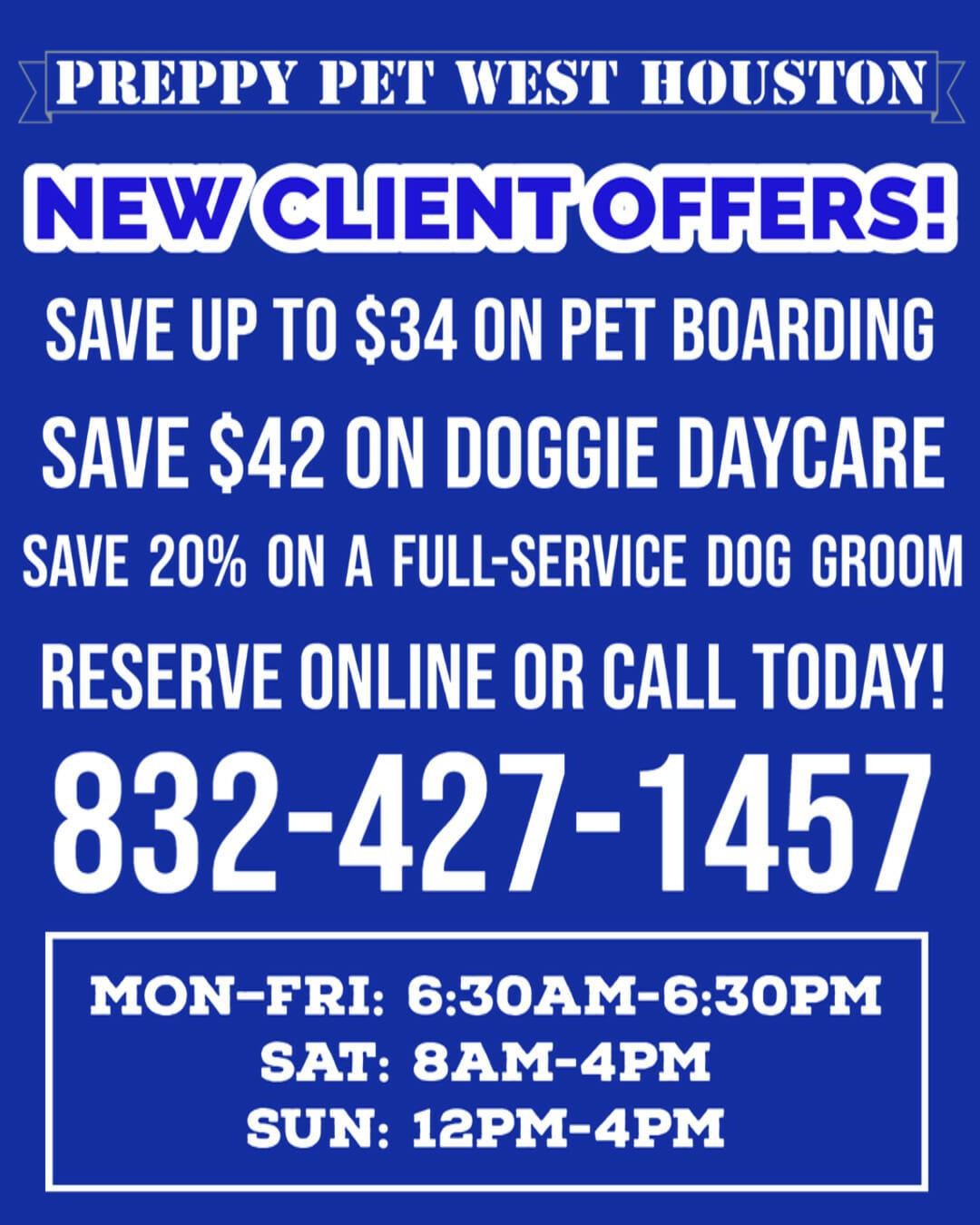 Preppy Pet West Houston Special Offers